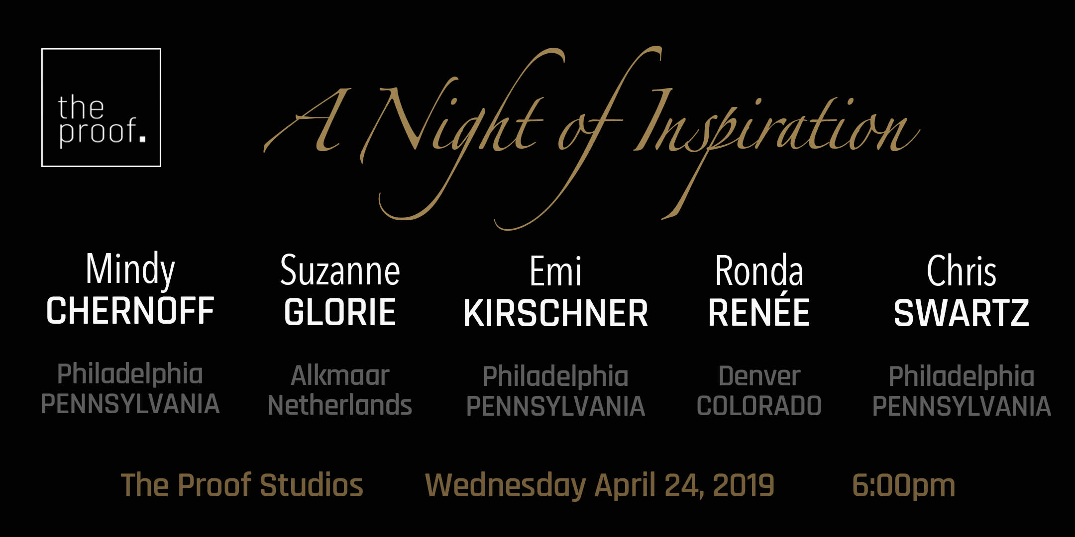 April 24, 2019 - A Night of InspirationJoin us for an evening of heart warming stories that lit the fire of entrepreneurialism among our speakers.