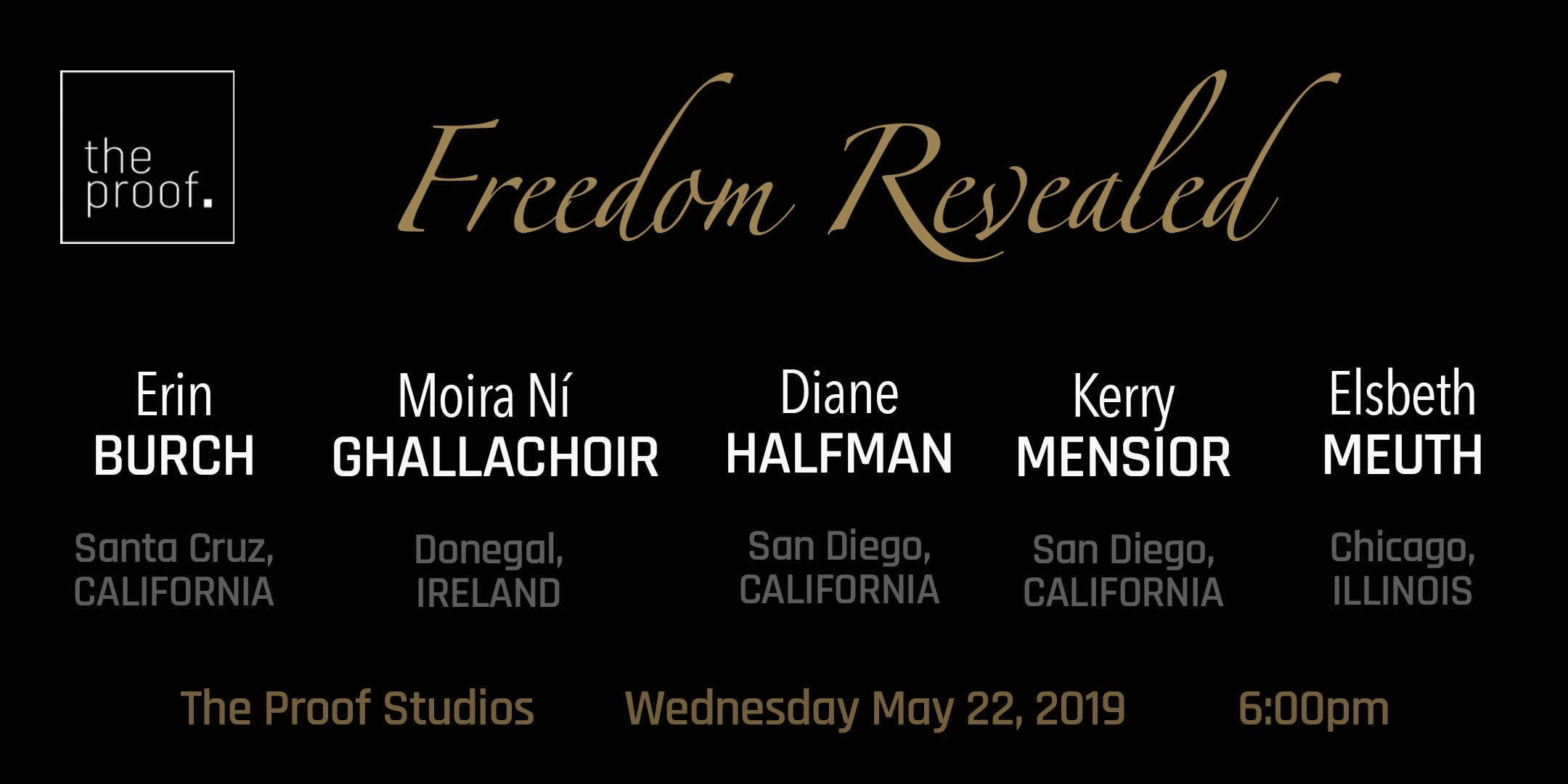 May 22, 2019 - Freedom RevealedFrom the San Diego streets of undercover prostitution vice patrol to the downtown Chicago underground of advanced tantric exploration, this line-up of speakers will encourage you to reflect on your own self expression and leave you inspired to live your best life.