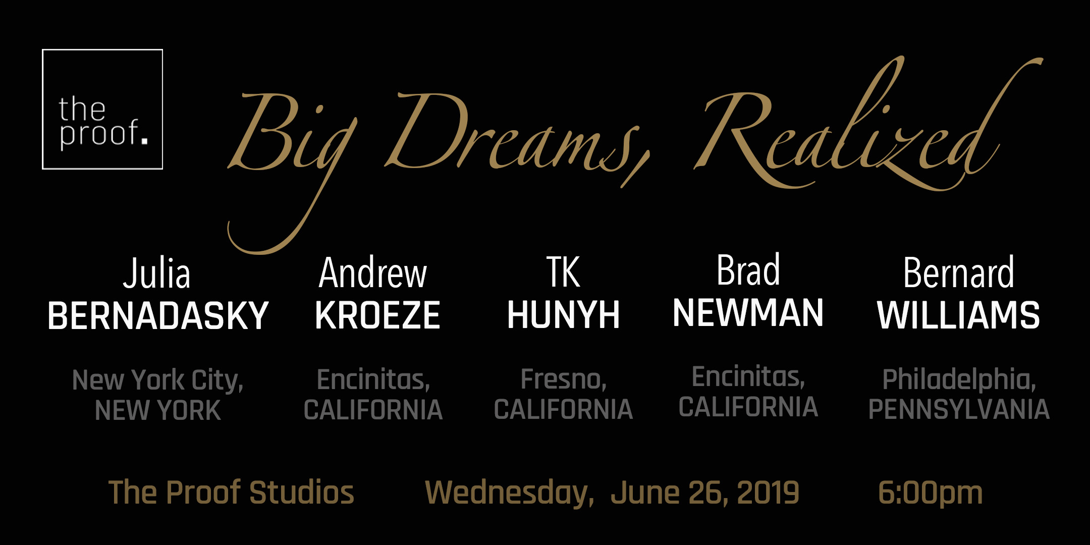 June 26, 2019 - Join us to witness five brave entrepreneurs who share their motivating factors that bring them to where they are today.