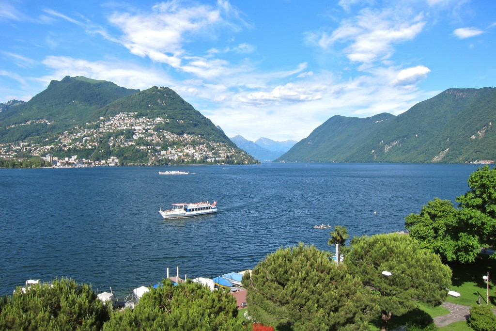 Lugano from the hotel