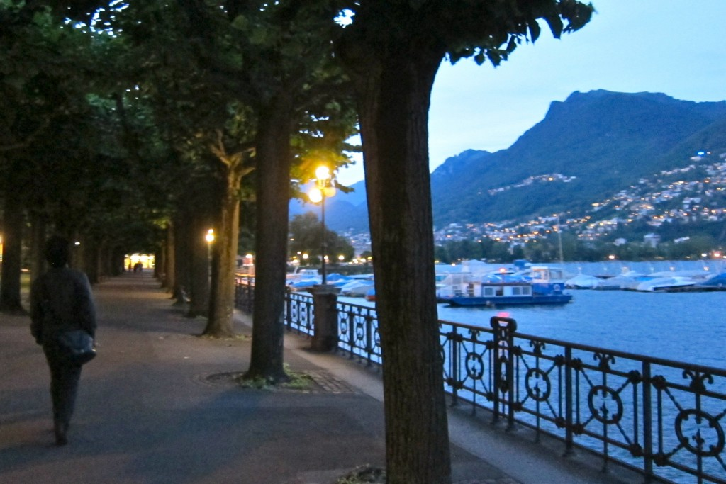 The Lugano Lake shore setting would be perfect for Prancercise®, though in this photo I do not seem to be partaking