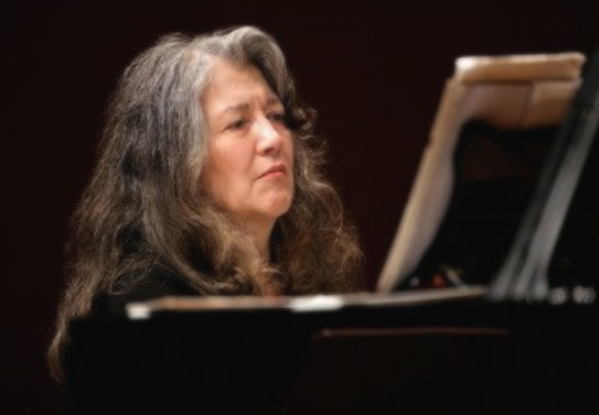 Martha Argerich at the piano
