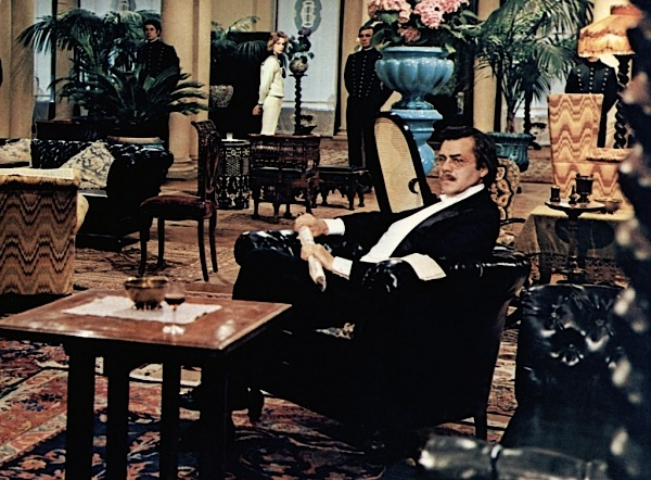 """Luchino Visconti's """"Death in Venice"""" (1971) with Dirk Bogarde as Aeschenbach and Björn Andrésen as Tadzio in the background"""