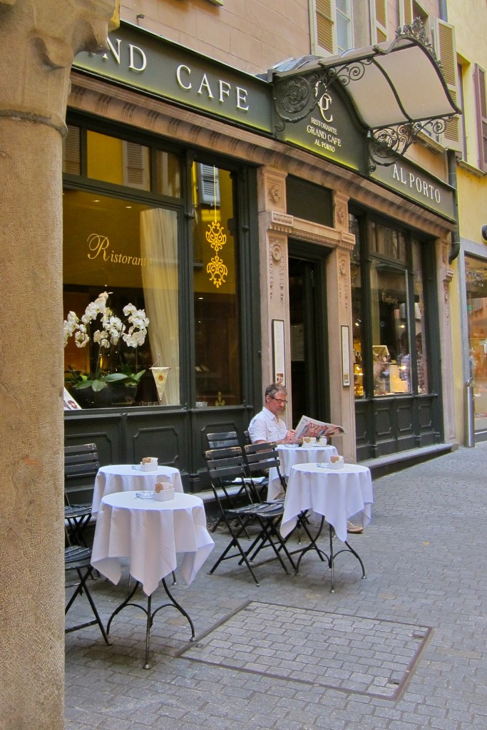 A cafe in Lugano center