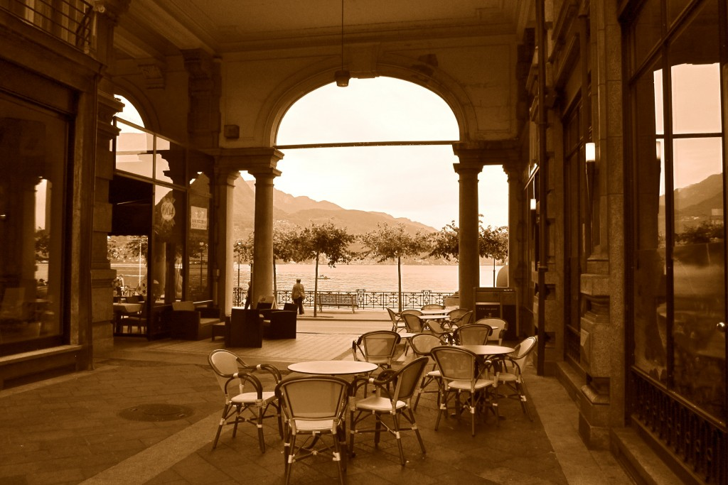 Old-world cafés with a view to the Lake are perfect for croissants and espresso, and perhaps the morning paper