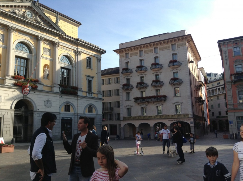 Piazza Riforma in the afternoon–one of many plazas joined by interior streets