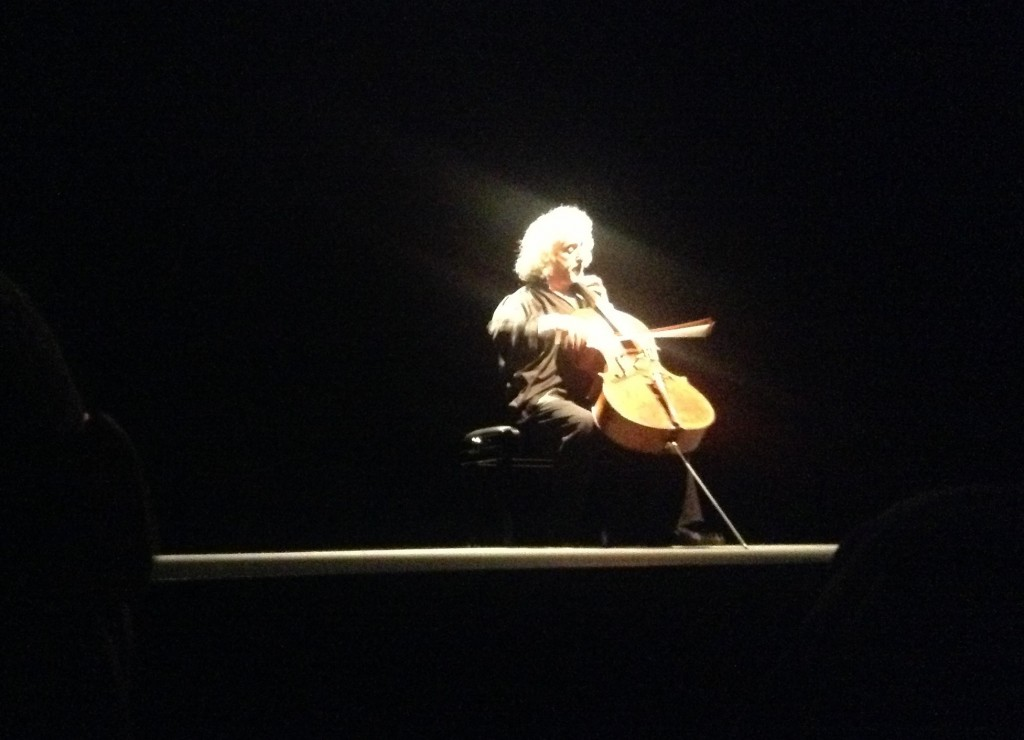 Radiant in the Bach encore–for me the highlight of the evening