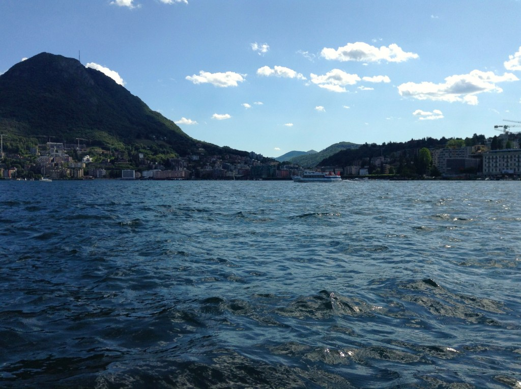 A paddleboat ride with friends afforded this view on Lake Lugano