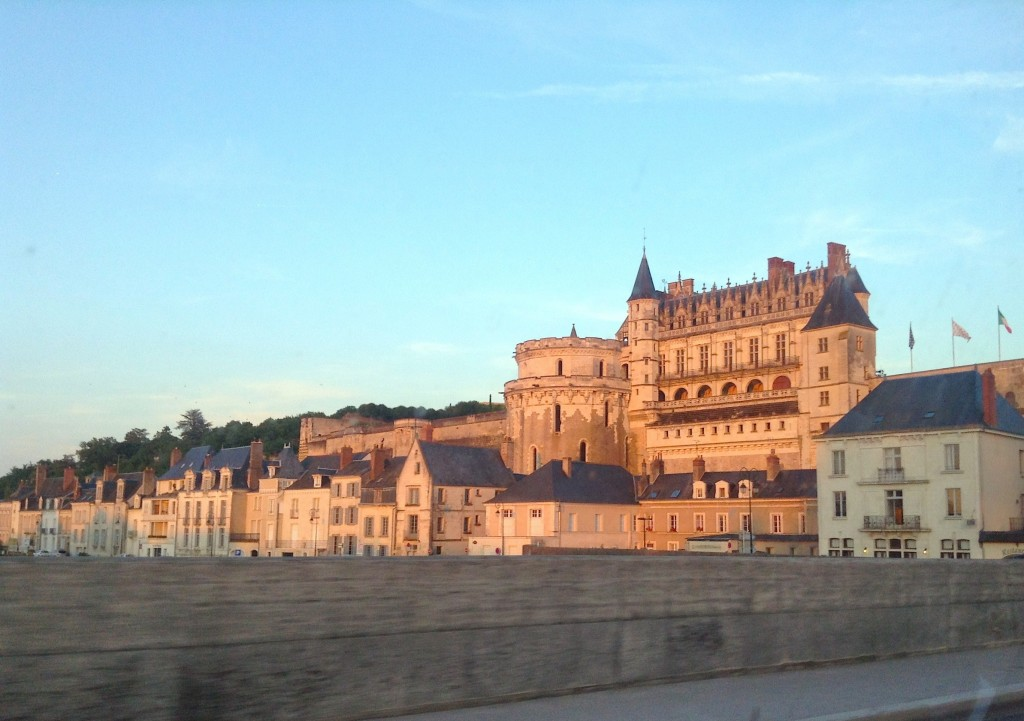Headed towards Chenonceau, we passed Chateau d'Amboise, behind which Leonardo Da Vinci lived in late life