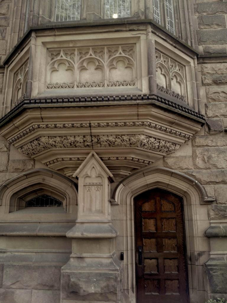 Gothic revival details