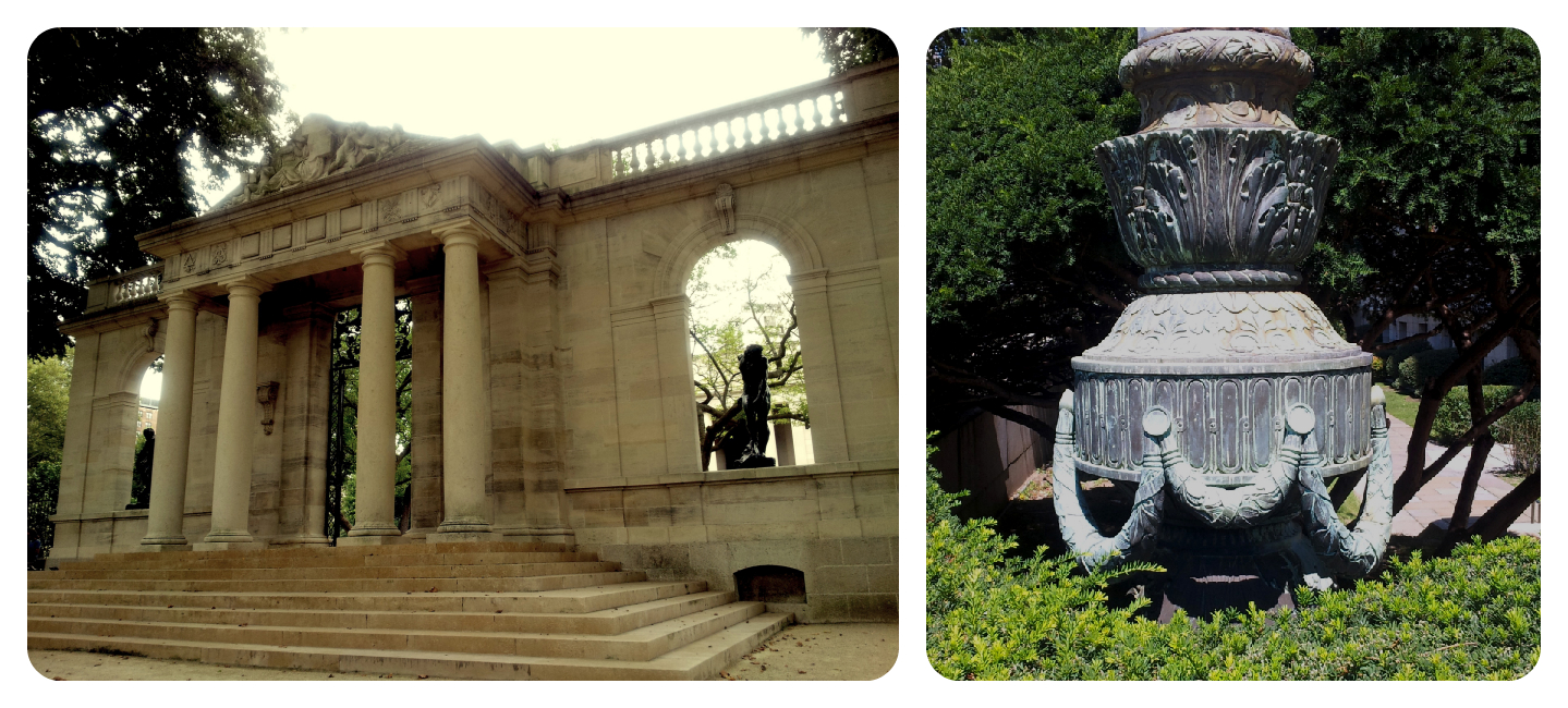 Rodin Museum and Lamp-post base