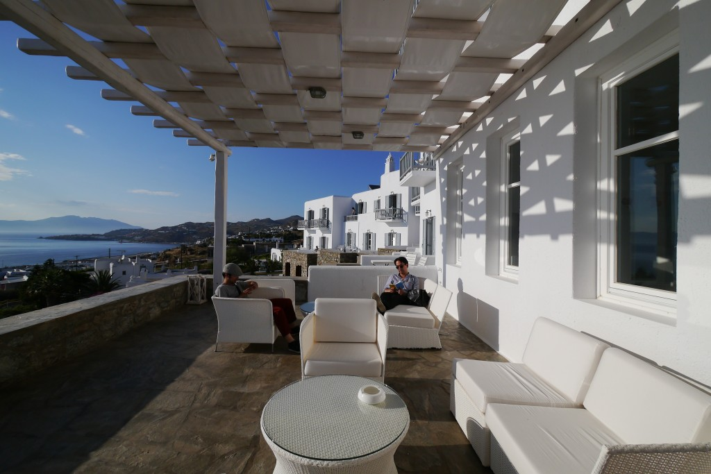 I highly recommend the Hermes Hotel in Mykonos, or just anything in Mykonos in general, starting with the gelato