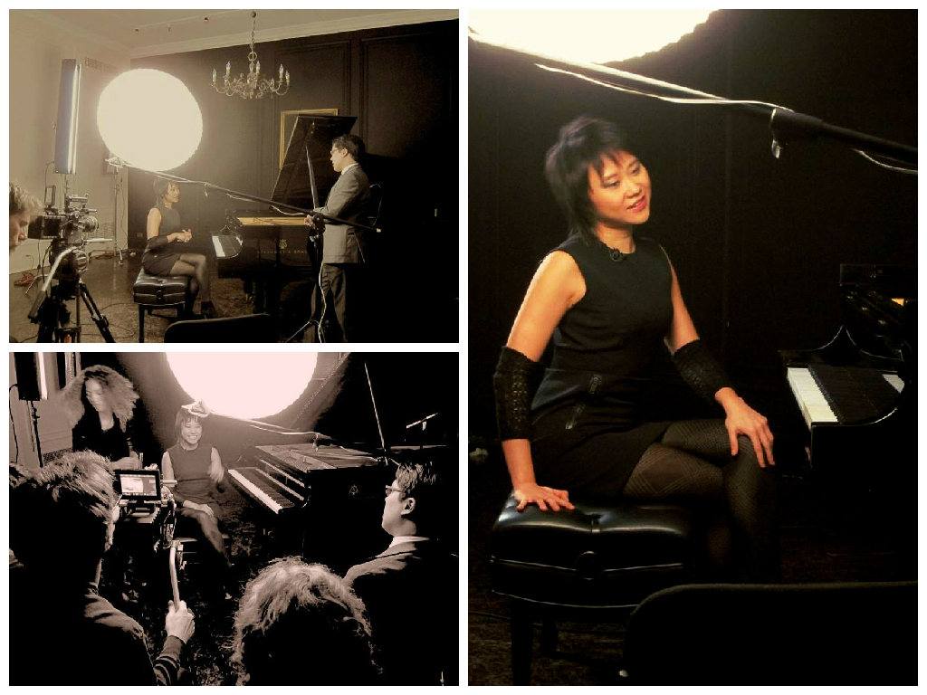 Yuja Wang filmed in old Steinway Hall in NYC–she used the piano to demonstrate musical examples