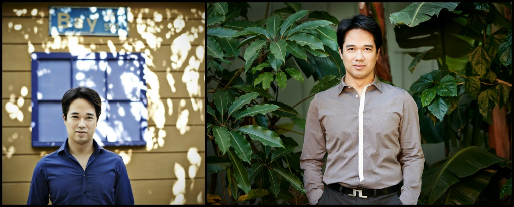 Two impromptu portraits upon first meeting–in the garden of the house where I stayed in Santa Monica