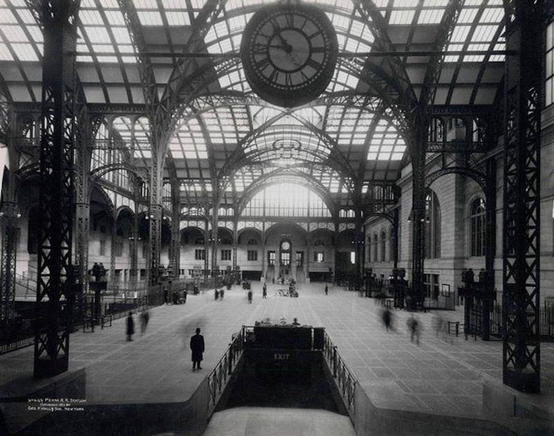 Inspired by the Paris Gare d'Orsay, Pennsylvania Station was conceived to be twice the size of its European counterpart.