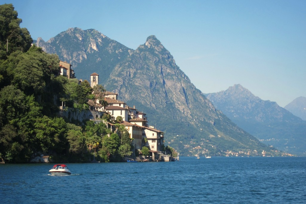 """The view of Lake Lugano from a boat excursion on the """"Paradiso"""""""