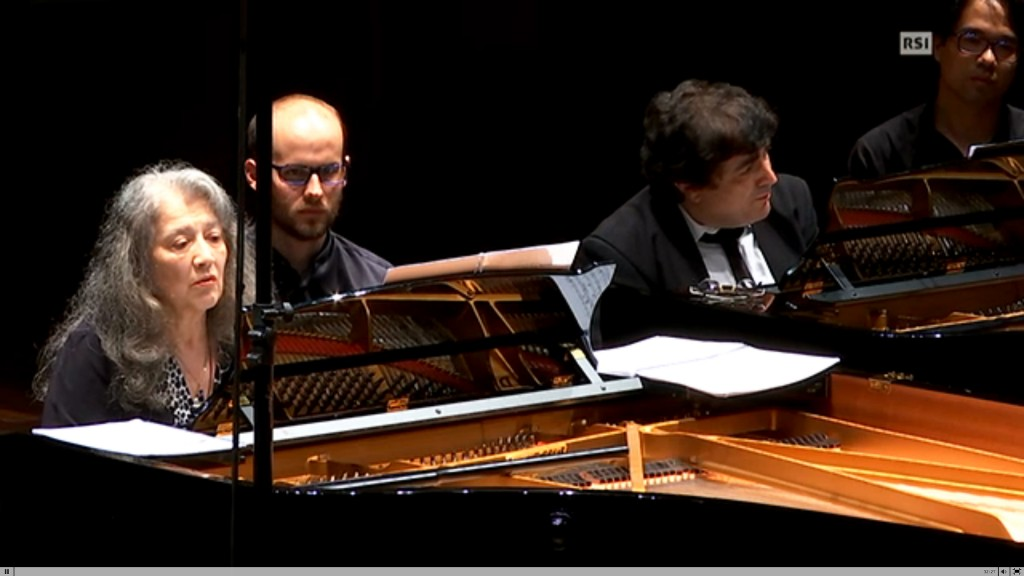 Martha Argerich and Sergei Babayan perform the premieres of new selections of Prokofiev as transcribed by Sergei Babayan. Turning pages for the great artists required a level of focus I could hardly imagine, in order not to get distracted