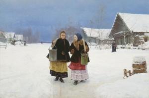 """Rival Ladies"" from 1890 by Nikolaj Alexejewitsch Kassatkin"