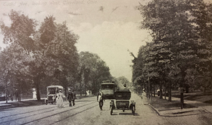 Eventually, cars and carriages shared the street, and the character and scale of the avenue began to change.