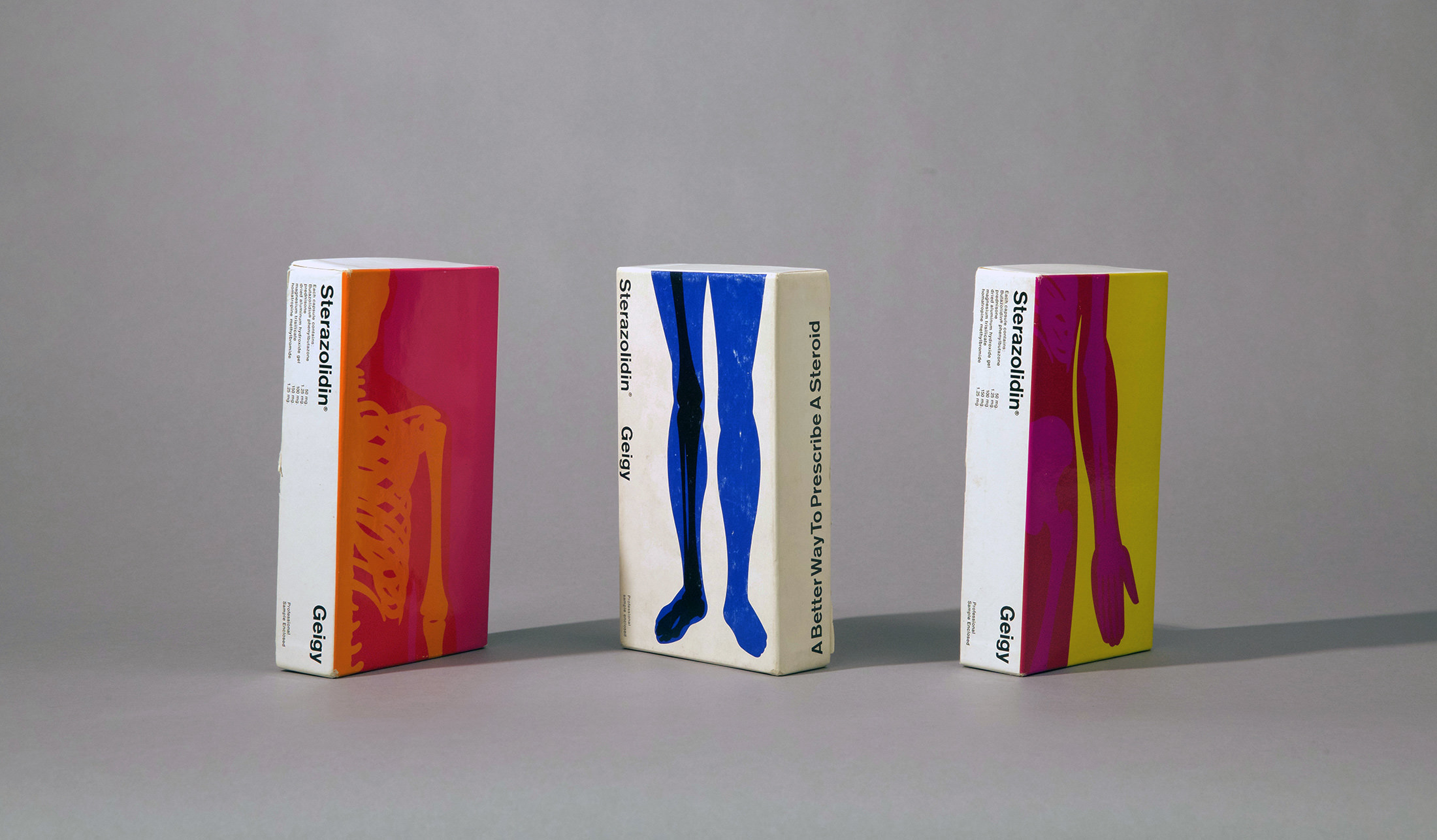 Packaging for Sterazolidin by Fred Troller, 1966