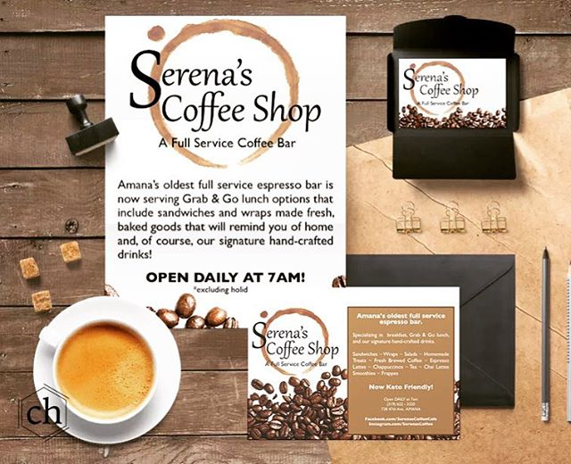 I have been slowly but surely updating my portfolio so that you may see all that I've been working on! Here is an example of the print material I did for Serena's Coffee Shop #coffee #coffeeshop #graphicdesign #graphicdesigner #freelancegraphicdesigner #businesscards #advertising #artist #marketing #branding #brandidentity #logodesinger #logo #logodesigns #logos #logomaker #logodesigners #creativelogo #creativebranding