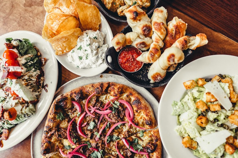 Wedge, Ricotta Dip, Knots, Short Rib Pizza & Caesar