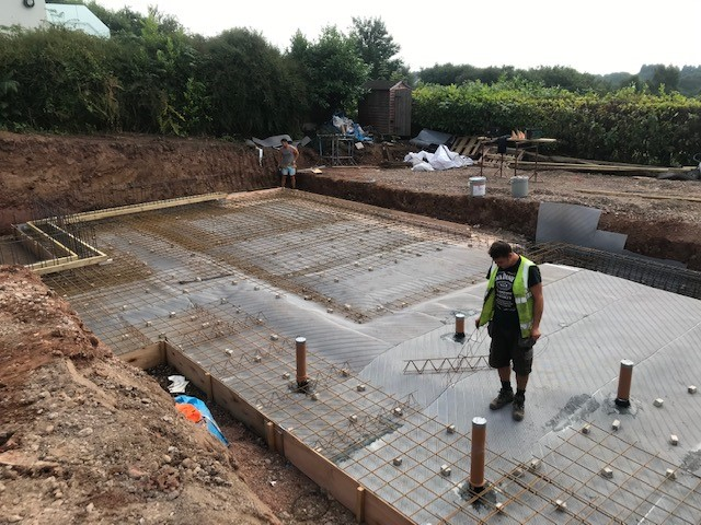Jools O'Brien team getting ready to pour concrete for the base - image 2 - Aug 2019