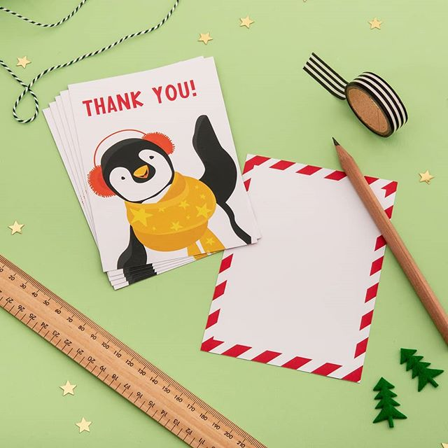 It's the little touches that make a difference..Thankyou postcards for Christmas or general winter thanks. All on recycled silk card and printed in the U.K. it's just good manners really! #thankyoucard #christmascards #penguin #thankyoucardChristmas #littlethings #sustainabledesign