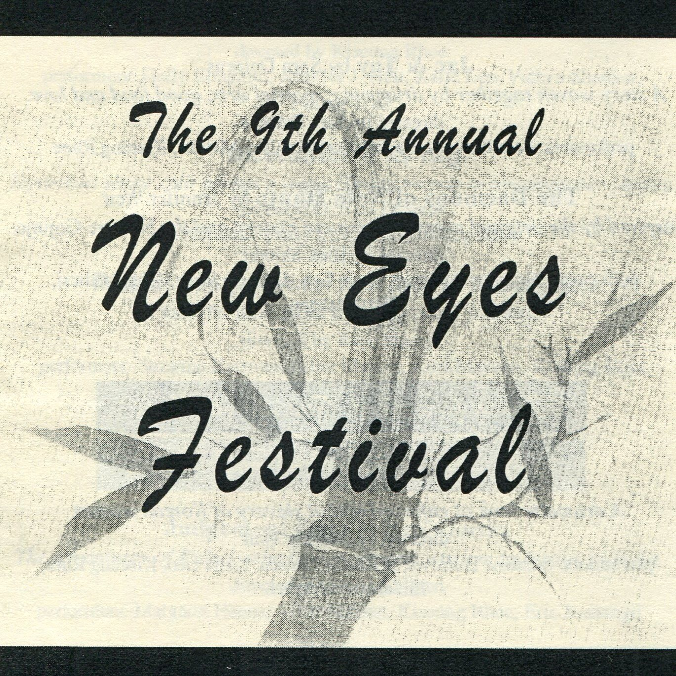 THE NEW EYES FESTIVAL 2001 - June 21st-25th, 2001