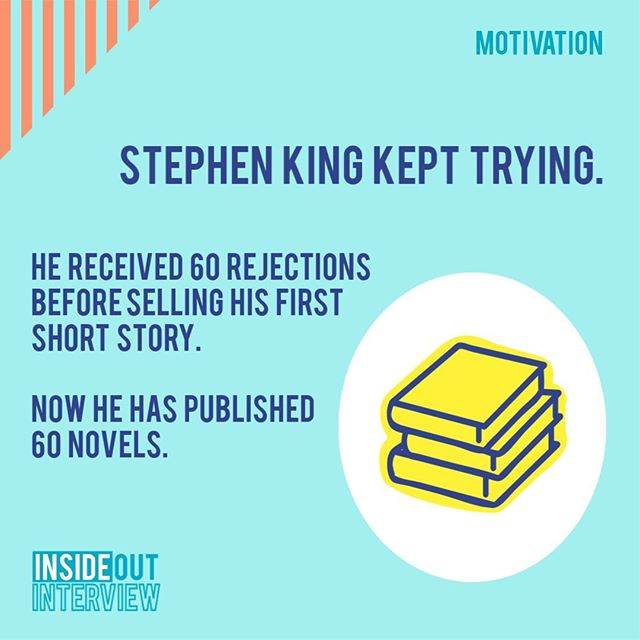 Stephen King tried not once, not twice, but 60 times! 🤯 Rejection is tough, but you're tougher. ✨ And no attempt is wasted! Just consider it a practice round. 🙌 If you learn from every time you try, you're bound to succeed. 👩‍💻