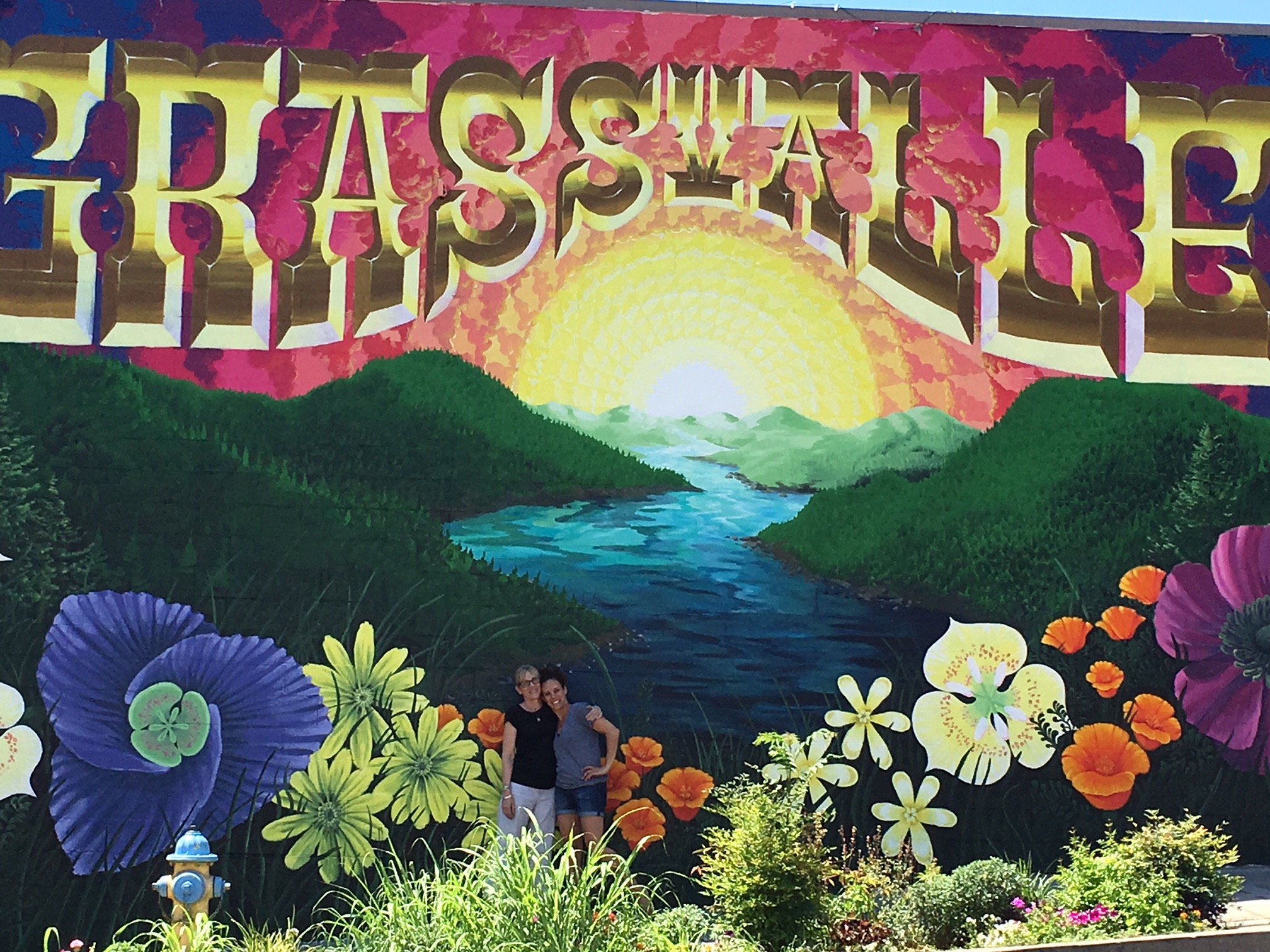 New mural in Historic Downtown Grass Valley