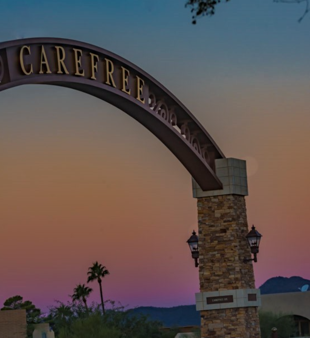 New arch in Town of Carefree, AZ