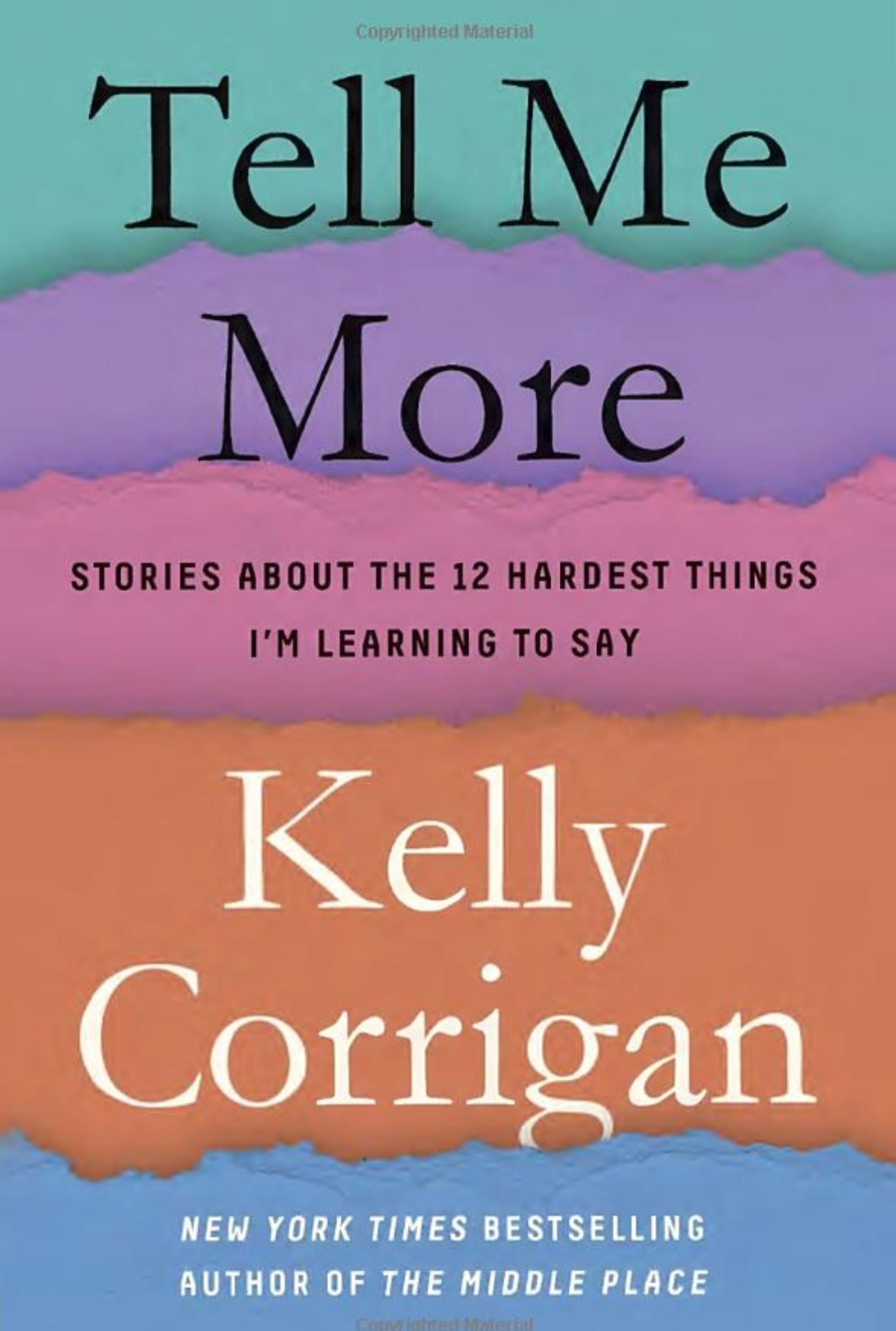"Tell Me More by Kelly Corrigan - Lilly: I first loved Kelly because she is one of my people, a modern feminist mother and writer raised in an Irish American Catholic family. ""We"" (Irish American Catholic families) are so incredibly loud but surprisingly insightful, effusive to the point that we often scare strangers or newcomers to the family (my Mom still praises sweet, German Markus for being able to ""ride out"" getting to know us) but stoic at the same time. It's always so good to hear a voice of reason from the group.Tell Me More is Corrigan's collection of personal essays centered around the phrases that have changed her ability to relate and communicate as a mother, daughter, wife and friend. Her honesty with herself and us shows how the smallest things like changing an ""I'm Sorry"" to ""I Messed Up"" can grow and heal us and our relationships. Corrigan wrote the book while raising two teenage girls and losing her force of a father and a special best friend, all seasons of life that challenge us to go inside and relearn how to do things, especially when they happen all at once.I loved her reading of her own writing in the audio format. I both laughed and cried so hard in parts I had to make sure I could drive. It's now my favorite book to gift to a friend."
