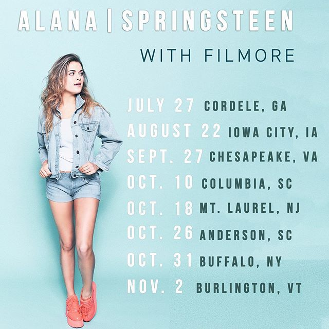 Guys!! I'm heading out on the road this summer & fall with @filmoremusic.. I've been a big fan of his music for a while and I'm so grateful to have the chance to open for him! Hope to see you all out at some of these dates 💕✌🏼 #theslowertour