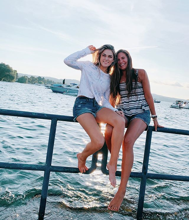 Missing @oliviaflint_ and this day 💕✨  #letsgoback #bestie #lake #bestday