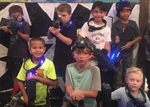 Laser tag or Nerf parties for groups of 8 or more starting at $199 - Recommended for ages 4 and up for Nerf and 6 and up for laser tag
