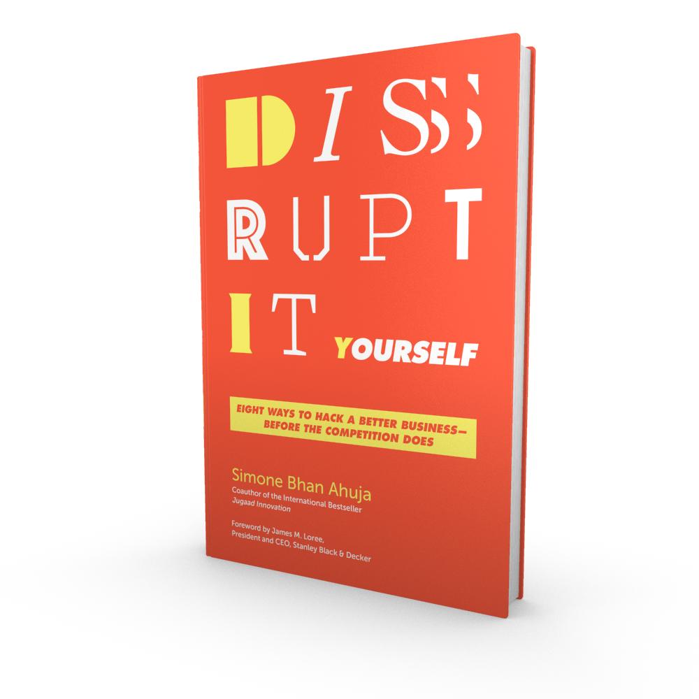 Read the book - Dr. Simone Ahuja has authored Disrupt-It-Yourself: Eight Ways to Hack the Corporation…Before the Competition Does (with foreword by Jim Loree, CEO of Stanley Black & Decker). Read here