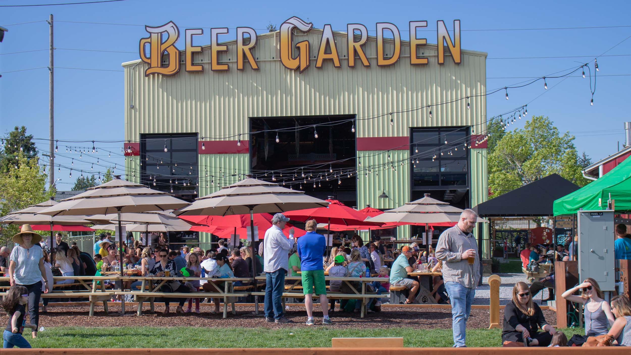 "BEER GARDEN - ""RELAXED ATMOSPHERE, BEAUTIFUL BEER GARDEN, GREAT BEER! WORTH A TRIP TO BELLINGHAM.""The biggest beer garden in Bellingham does not disappoint. With a huge outdoor seating area filled with rows of shaded picnic tables, Adirondack chairs, a grassy play area, and a back lot full of outdoor games, there's enough to keep everyone entertained for an entire afternoon, evening, or both."