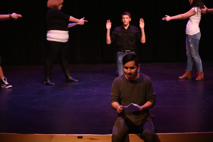 Students from South Texas College in the Rio Grande Valley, Texas create original theater examining border life. (2015)
