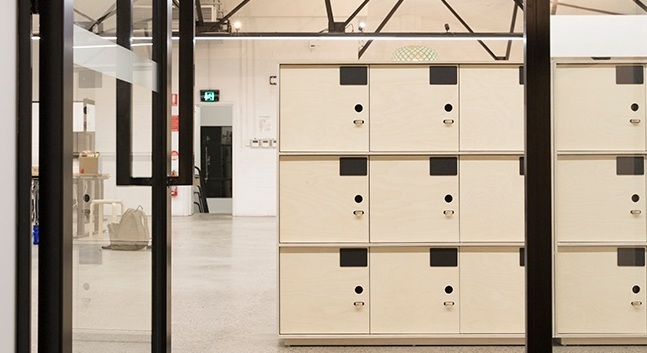 The Bold Collective — Plywood lockers for an exciting tech start up. - Read More ⟶