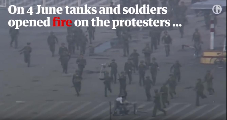Screenshot from Guardian News segment at 1:17