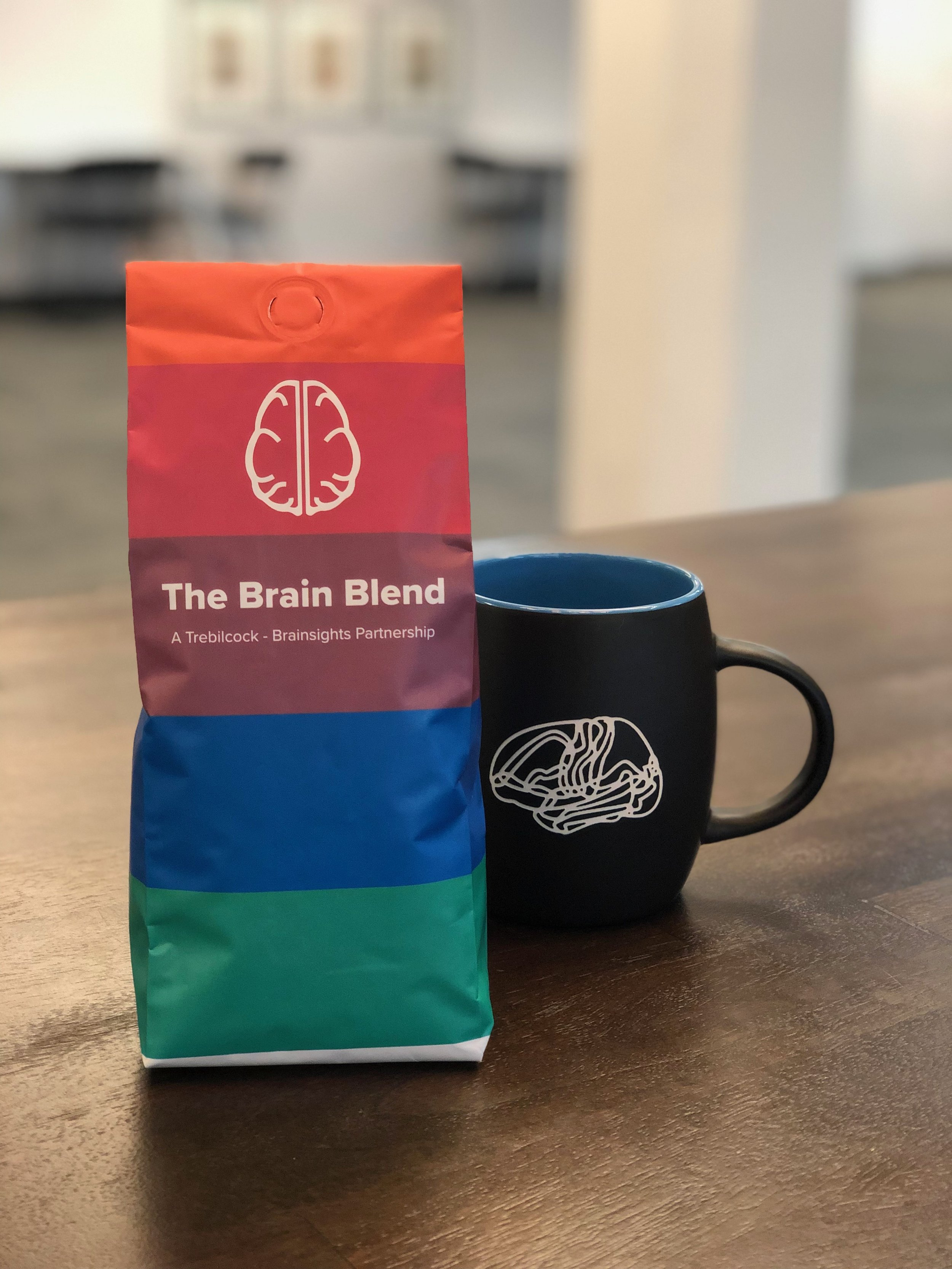 Our delicious Brain Blend coffee!