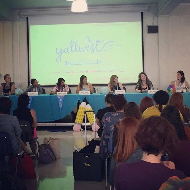 YALLWEST feminism panel with Veronica Roth, Dhonielle Clayton, Sandhya Menon, Sarah Lemon, Leigh Bardugo, and Lauren Oliver