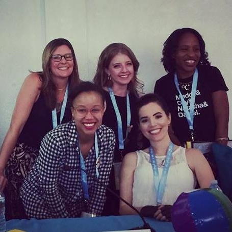 """YALLWEST """"Tough Topics"""" panel with Marie Marquardt, Nicola Yoon, Dhonielle Clayton, and Abigail Johnson"""