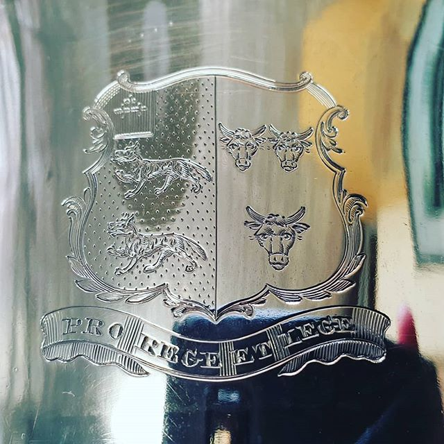 Here is one we did over 30 years ago come to visit for some additional engraving,  we have many an previously engraved item passing through regularly. #fineart #engraving #handengraving #Trophy #golf #ladiesgolf #womenssports #awards
