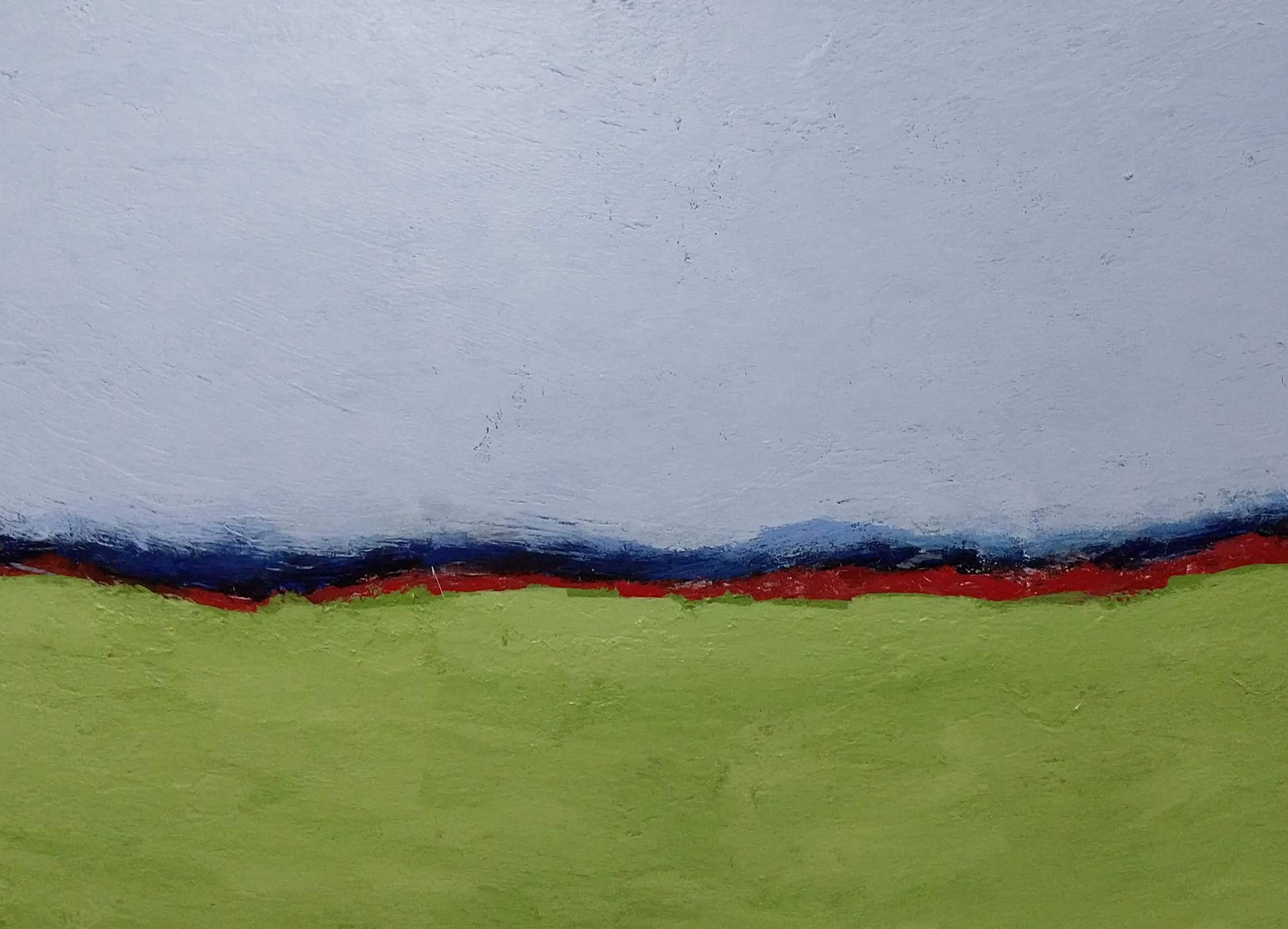 """Mark Rushton """"Parallel Country"""" acrylic paint on canvas 26 x 36 inches gallery wrap $2900"""