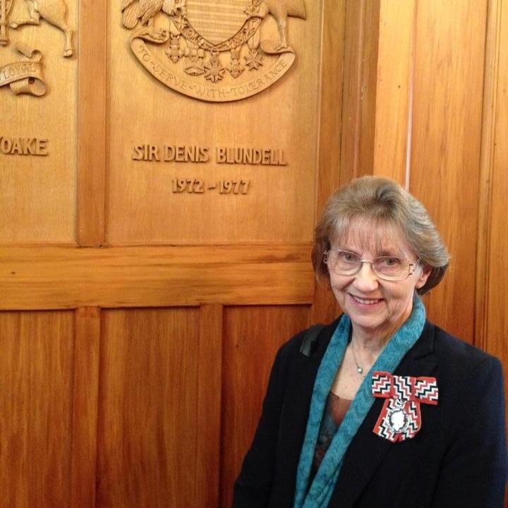 Margaret Stove - Guest speaker Saturday evening, resident knitting expert