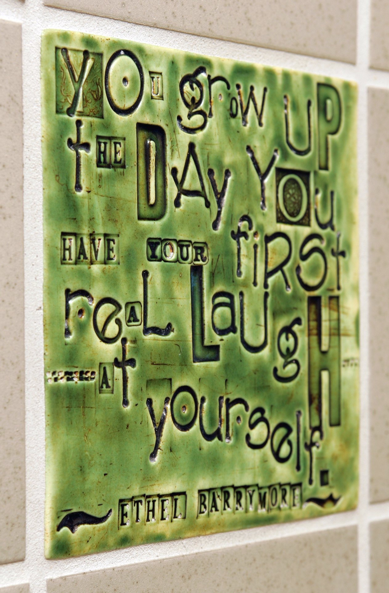 """8"""" x 8"""", Ethel Barrymore quote"""