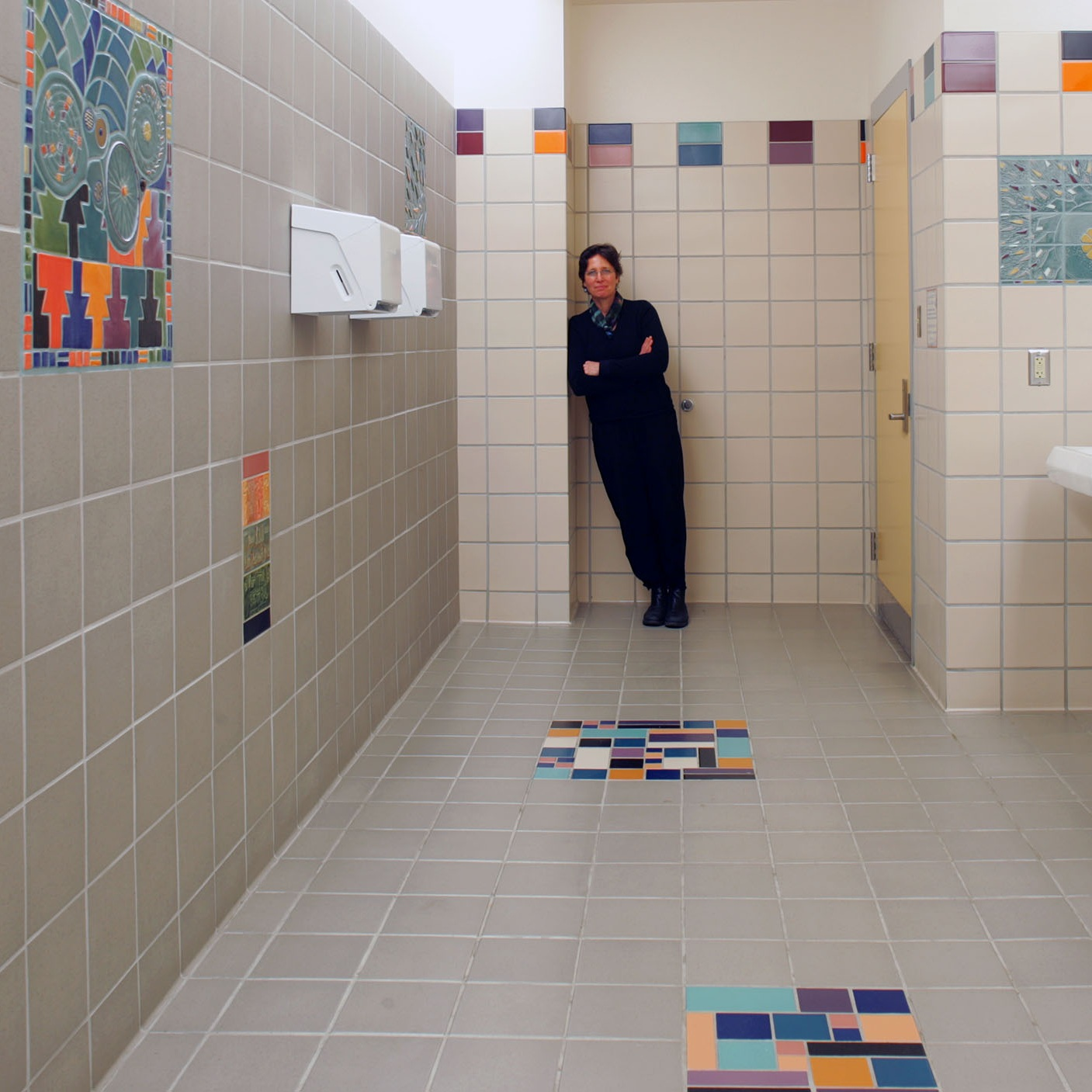 Ceramic Tile Installation - South Anchorage High School, Anchorage, Alaska