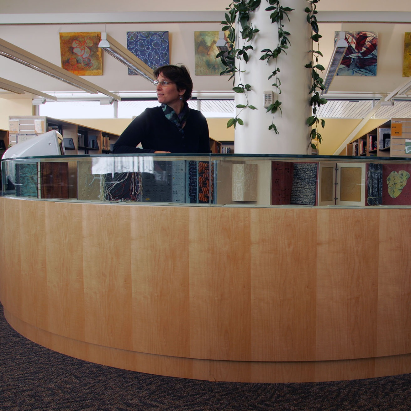 Information Ages book display - South Anchorage High School, Anchorage, Alaska